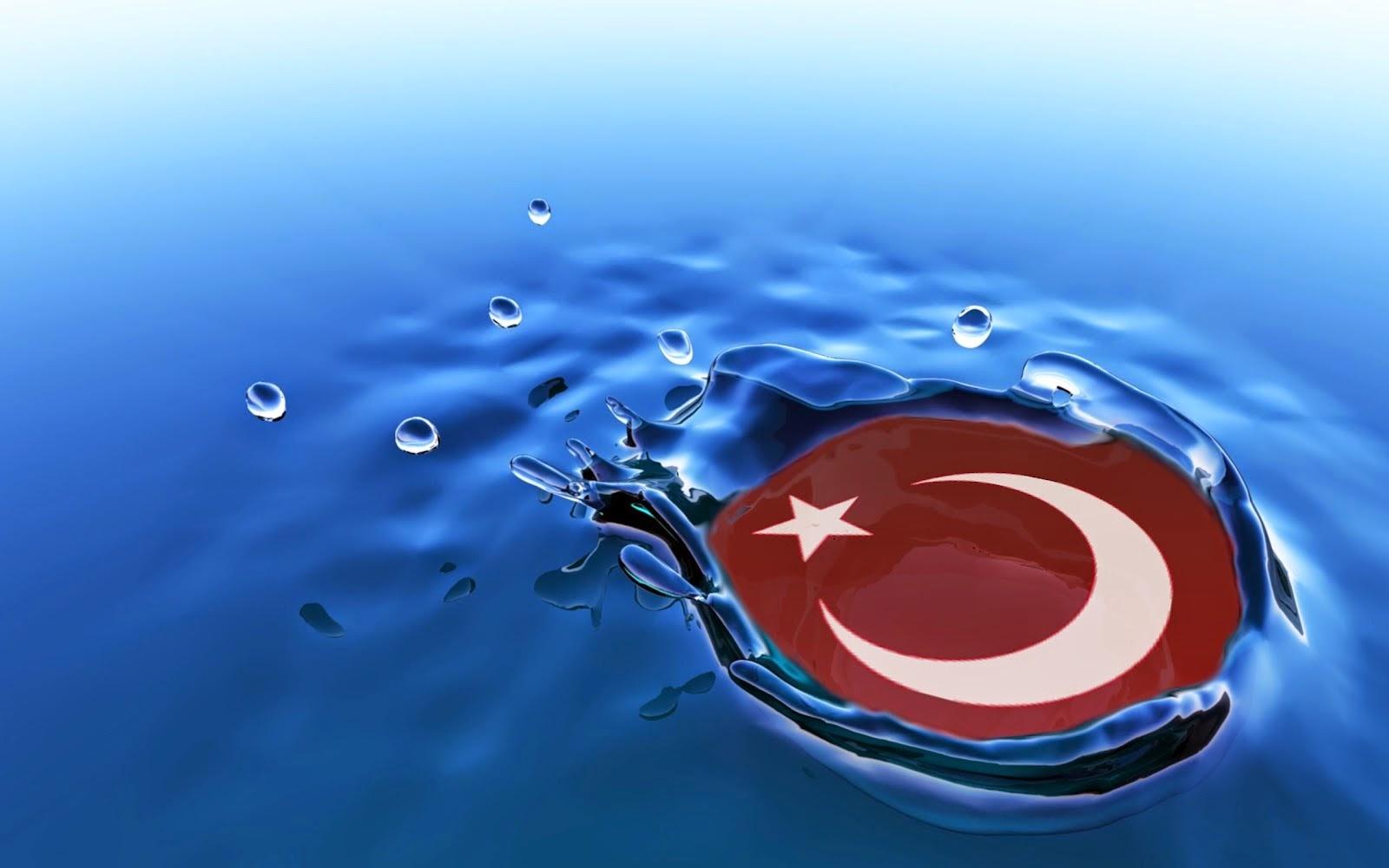 türkiye ve türk bayrağı su damlası masaüstü resimleri pc masa üstü resimleri walpaper arkaplan pictures