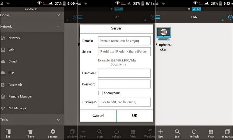 Access Computer Drives and Files from Android with Networking