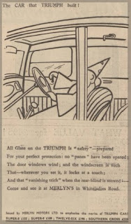 Merlyn Motors Ltd advert on Western Daily News 26 November 1932