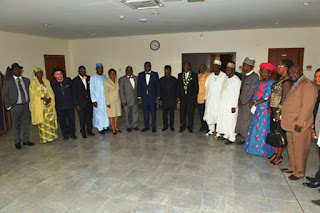 Engr Otis Anjaeji leads Engineers on courtesy visit to Nigerian Vice President, Prof. Yemi Osinbajo