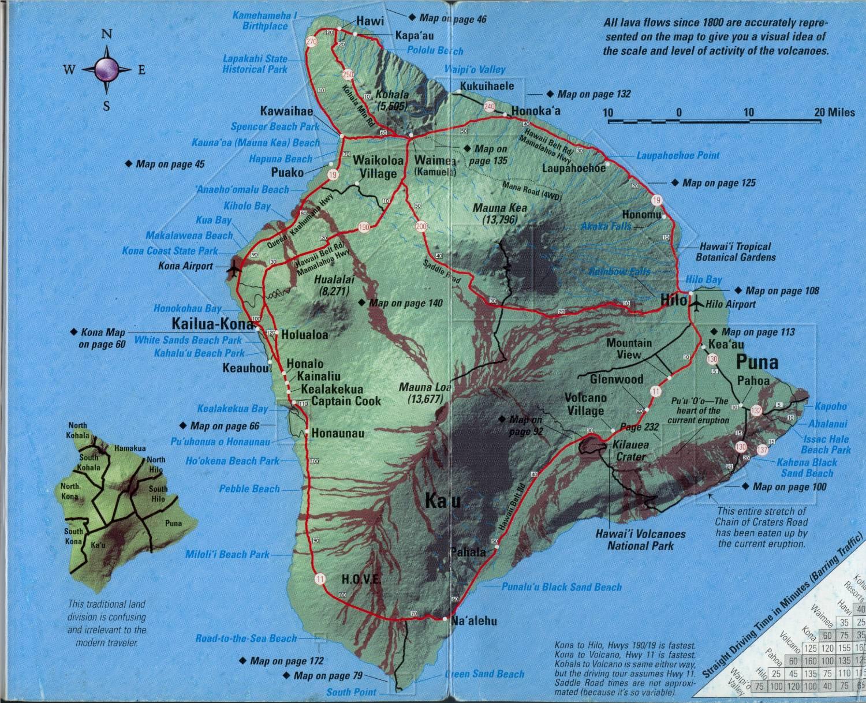 Hi Resolution Map Of Hawaii Island