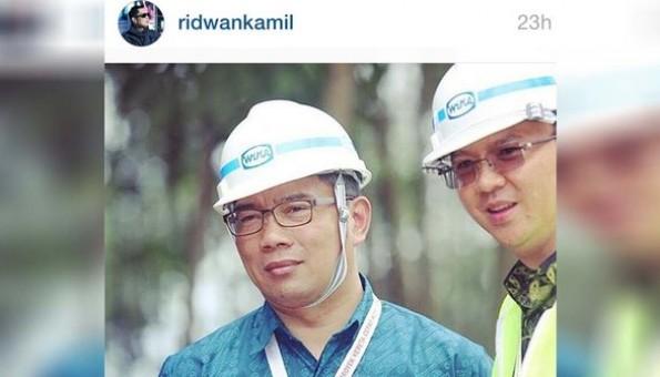 Ridwan Kamil:Kalau Pak Ahok dianggap yang terbaik oleh warga DKI, ya saya dukung