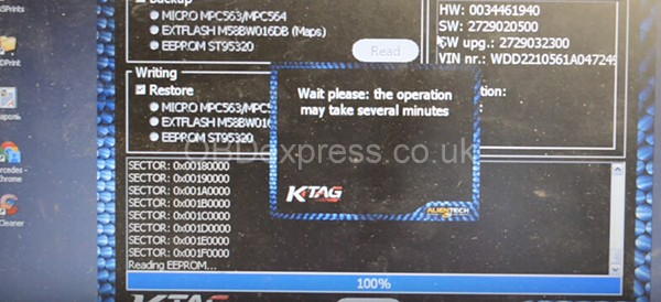 KTAG Reads Bosch ME 9.7 from Mercedes S350 (W221) 2006 17