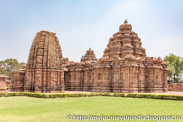 Pattadakal Mallikarjuna Temple on Right