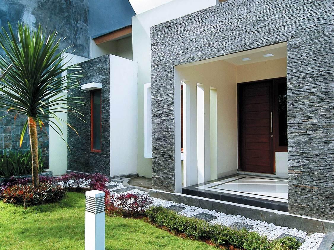 63 Teras Rumah Minimalis Batu Alam Yang Tampak Natural Dan Asri - DISAIN  RUMAH KITA