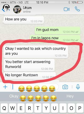 Runtown and his mum
