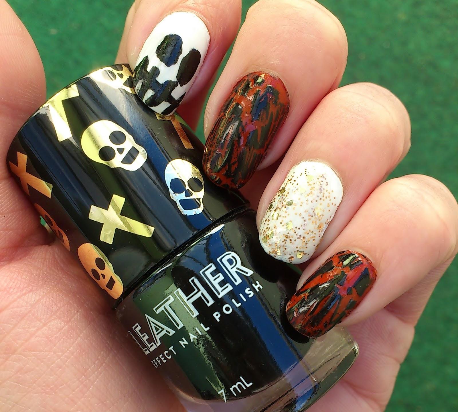Halloween Nail Design   Schminktussis Welt Beauty Fashion Lifestyle Aus Der Nahe