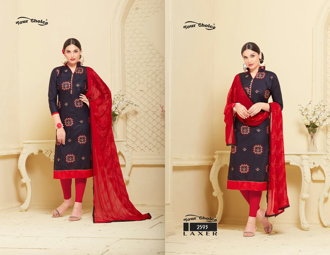 Laxer – Designer New Collection Embroideery Dress Material