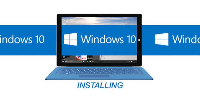 microsoft window 10 install