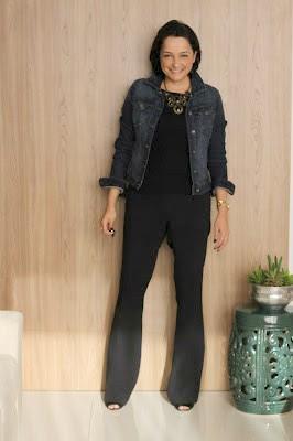 jaqueta jeans no trabalho