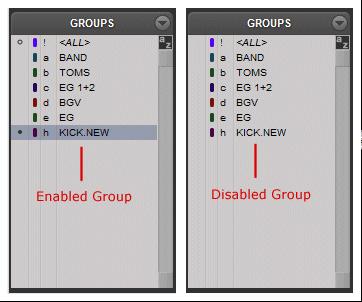 Pro Tools Group List