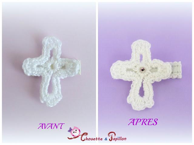 barrettes enfants croix blanche, cérémonie, barrette enfant, barrette anti glisse