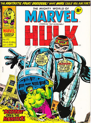 Mighty World of Marvel #170, Modok vs Hulk