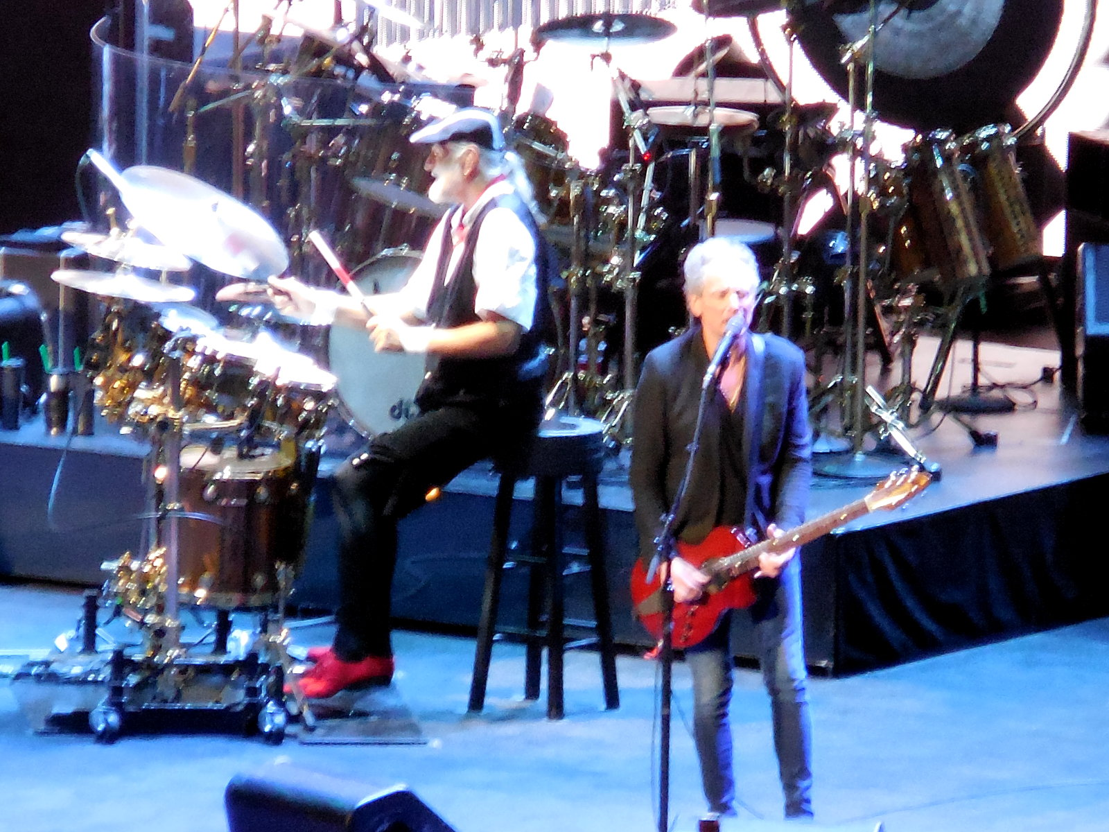 Mick Fleetwood and Lindsey Buckinham at Verizon Center Jan 2015 ©K. R. Smith 2015
