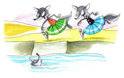 fabula las zorras en el rio