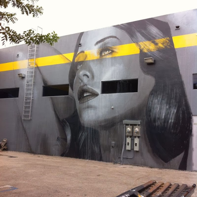 New Street Art Mural By RONE for Art Basel 2013 in Wynwood, Miami. 2
