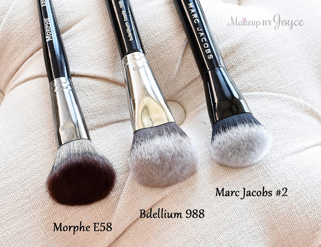 Bdellium BDHD 988 Morphe E58 Marc Jacobs No.2 Brush Review Dupe