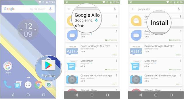 cara download dan instal google allo