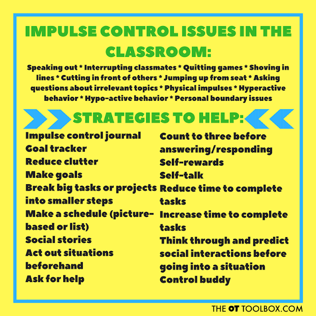Impulse control issues in the classroom and strategies to help