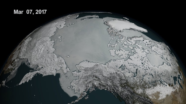 Sea ice extent sinks to record lows at both poles