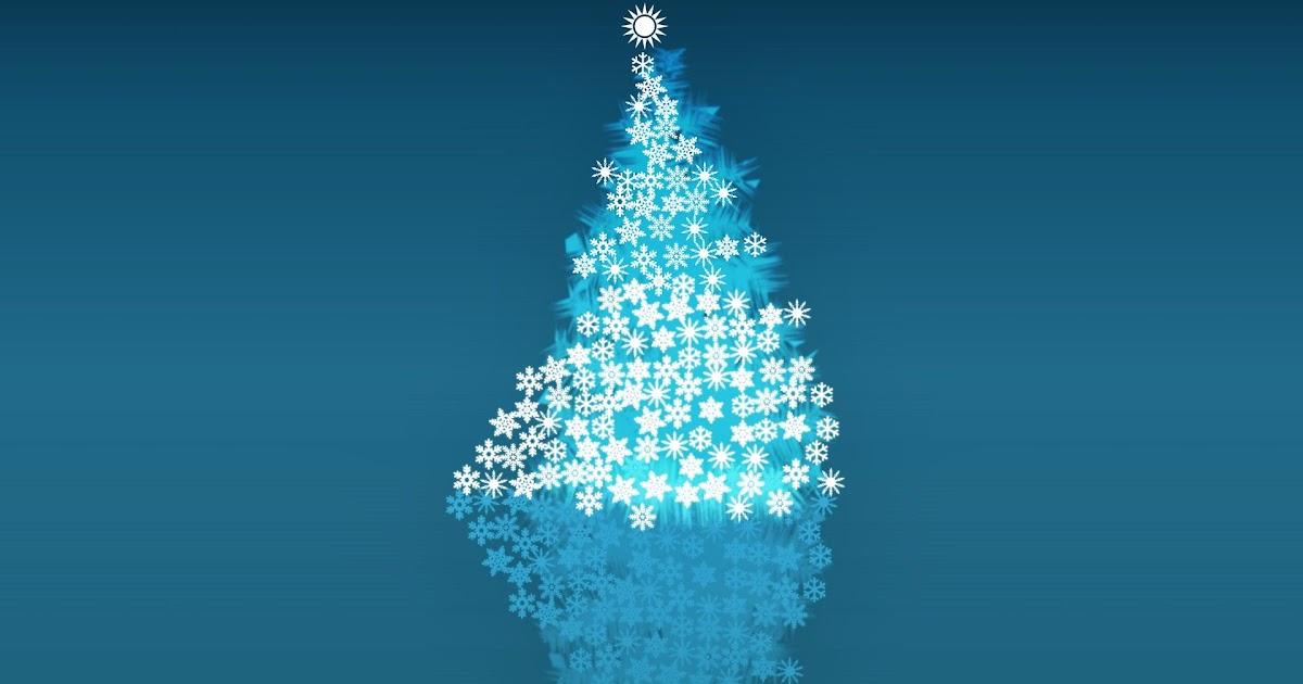 Fondo De Pantalla Abstracto Bolas Azules: Fondo De Pantalla Navidad Arbol Abstracto De Copos De