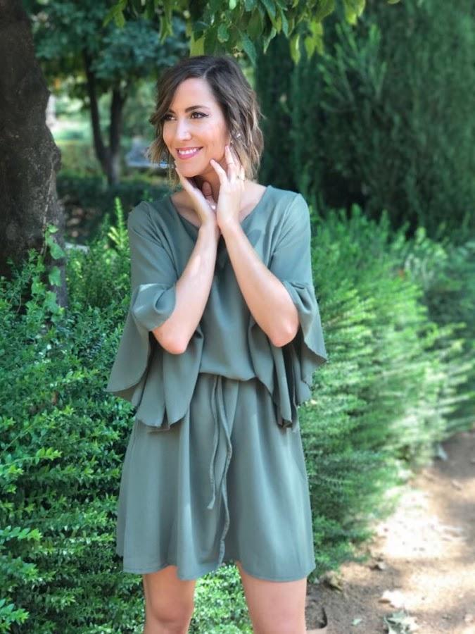 Fitness And Chicness-Vestido Verde Oliva Otoño-2