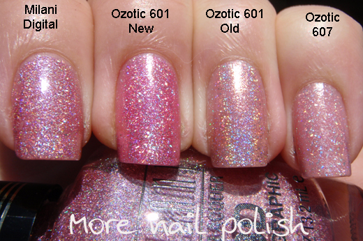 Pink holo comparisons milani 3d vs ozotic more nail polish the old version of ozotic 601 is the stand out here but the other three all come a close second solutioingenieria Gallery