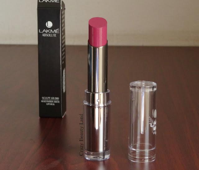 Lakmé Mauve Fix Absolute Sculpt Hi-Definition Matte Lipstick Review and Lip Swatches