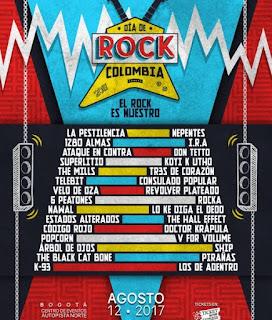 DÍA DE ROCK COLOMBIA 2017 poster 2
