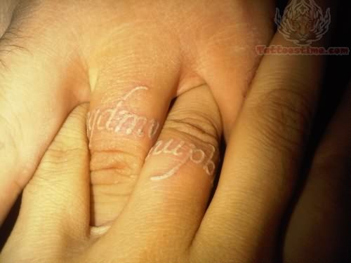 White Ink Tattoos Wedding Ring: Tattoo Japrak