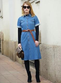Jaket Jeans Wanita Online Panjang Selutut