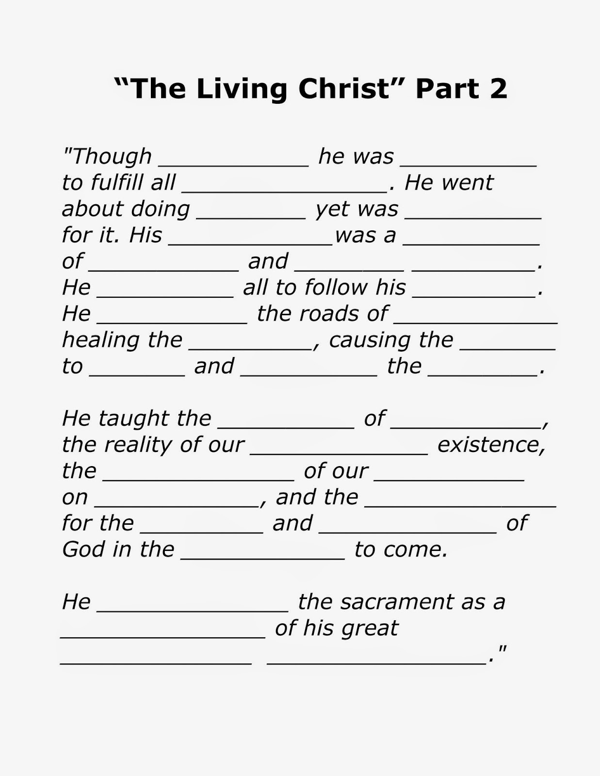The Living Christ Songs
