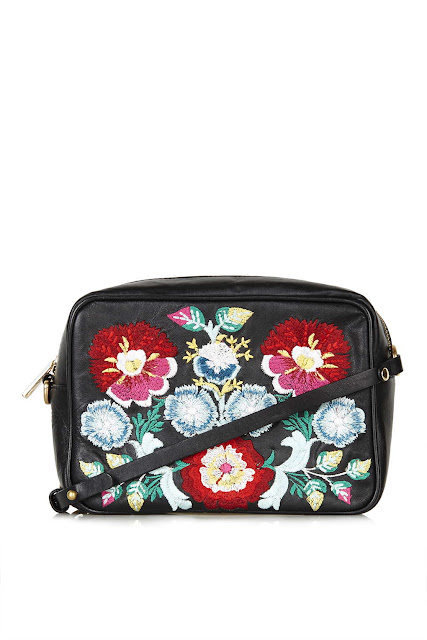 stella mccartney copy flower bag, red flower embroidered handbag,