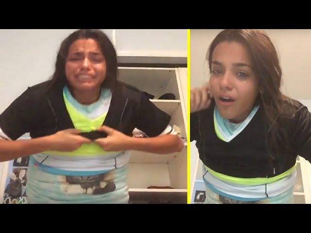 نجحت في تحدي ارتداء 100 قطعة ملابس ولكنها تفاجئت بشيء مروع عند خلعها! شاهد الفيديو الذي كان سيقضي على حياتها!