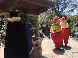 Evil Queen and Tweedledee and Tweedledum at Snow White's Grotto
