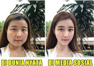 gambar perempuan di sosial media