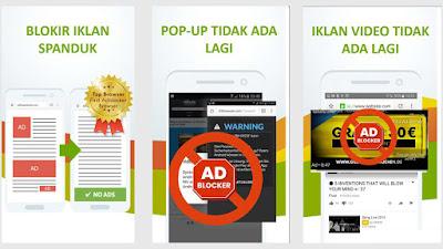 Menggunakan Adblocker Browser Gratis Untuk Menghilangkan Iklan di HP