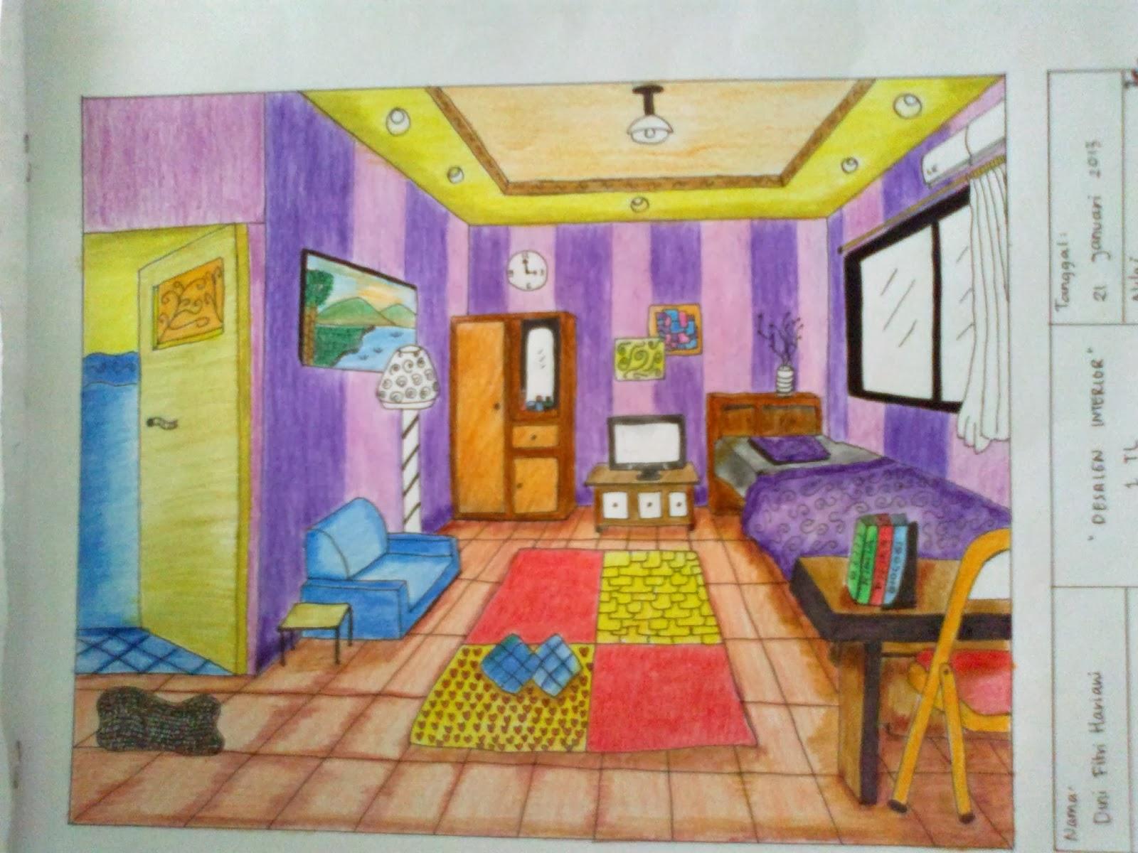 Gambar Prespektif Interior Kamar Tidur Interior Rumah