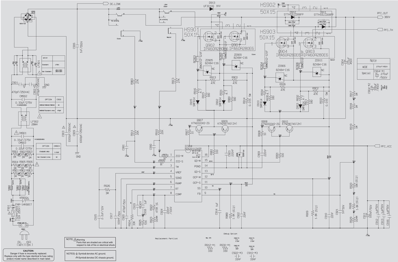 LG CM9550 SMPS and Power amplifier circuit diagram