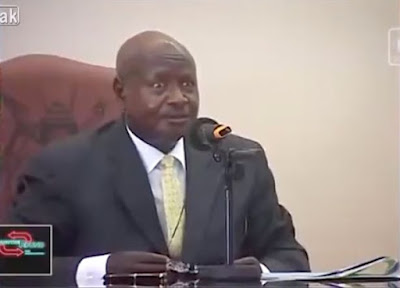 "Ugandan president Yoweri Museveni, 73, in a televised press conference condemning oral act. The president declared ""the mouth is for eating"" and oral sex ""should be banned""."