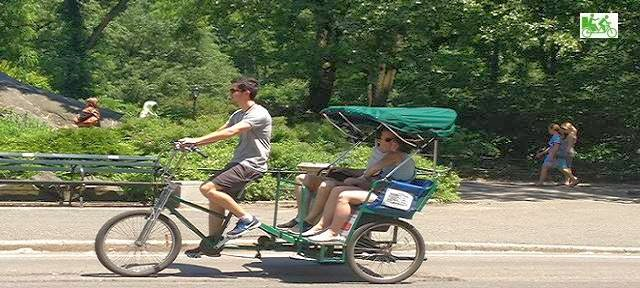 Pedicab Rickshaw guide at work - Central Park Tours