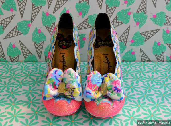 irregular choice sherbet ice cream floral bow shoes
