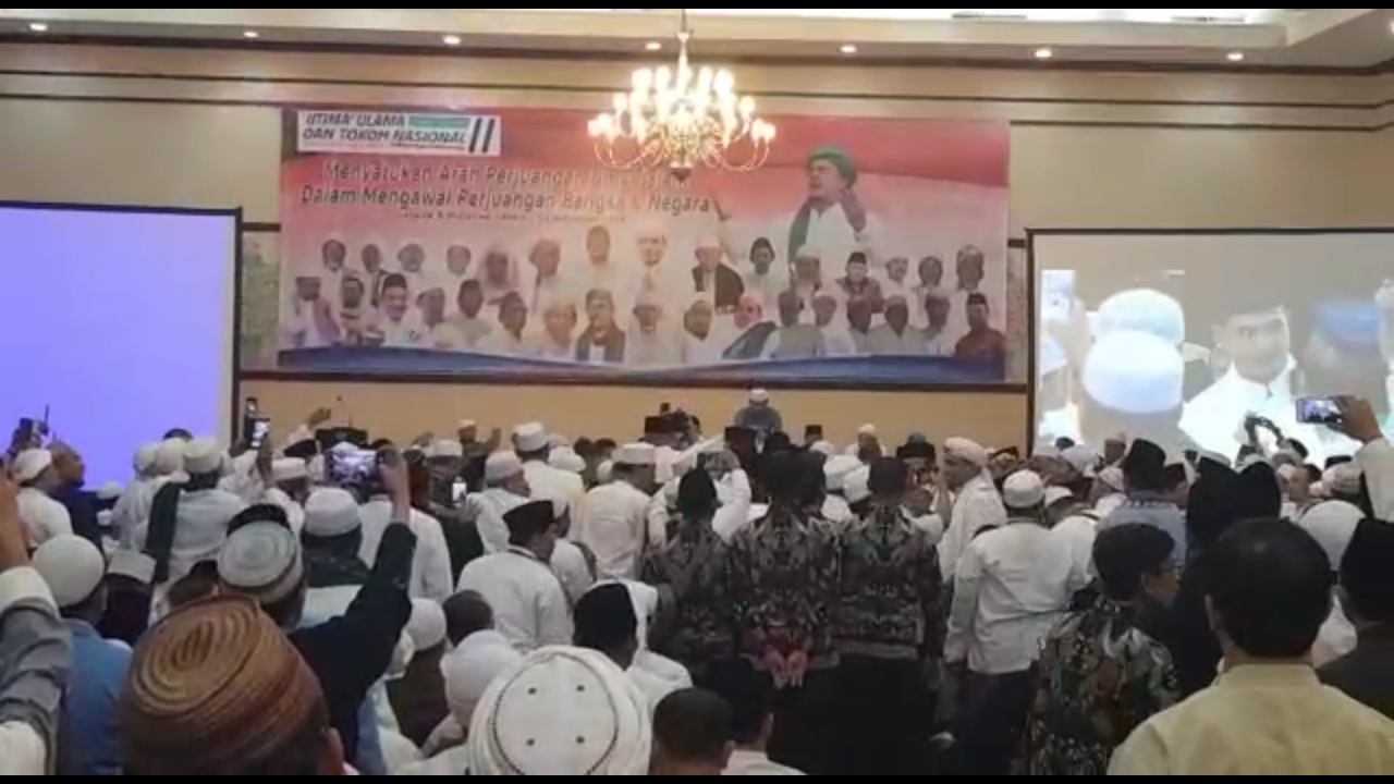 Masya Allah... Begini Suasana Saat Prabowo Hadiri Ijtima' Ulama II