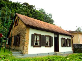 Fachada do Museu Casa do Colono, em Petrópolis