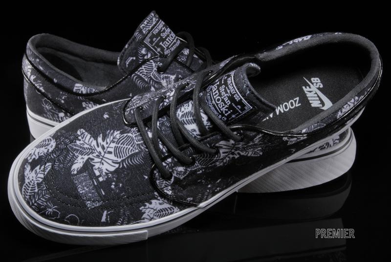 """Nike SB Zoom Stefan Janoski """"Black Floral"""" Black White Sail-Black 333824-022 b2a6ddfa6ba8"""