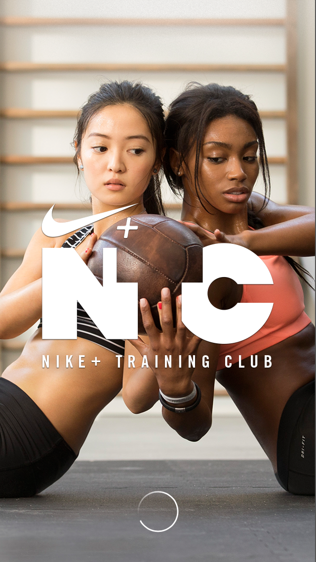 screenshot of nike training club mobile app on francescasophia.co.uk