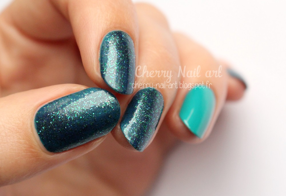 picture polish peacock