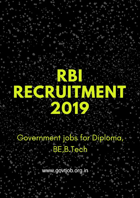 RBI Recruitment, Government Jobs , Bank Jobs