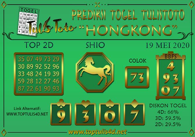 Prediksi Togel HONGKONG TULISTOTO 19 MEI 2020