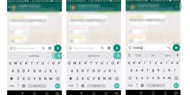 Tulis Pesan WhatsApp dengan Suara